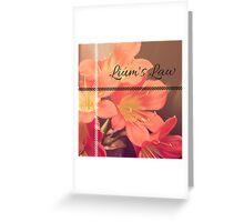 Lium's Law (Amser Studios) Greeting Card