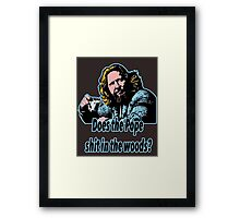 Big Lebowski Philosophy 31 Framed Print