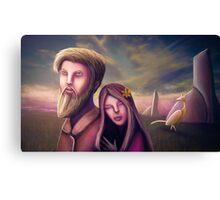 Planet Valentine Canvas Print