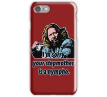 Big Lebowski Philosophy 32 iPhone Case/Skin