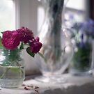 flowers and vases by Barbara Fischer