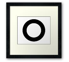 Repeating Ring Pattern Duvet - Black Circle Design Framed Print