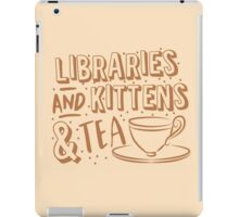 LIBRARIES and kittens and tea (just a few of my favourite things!) iPad Case/Skin