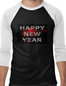 Happy New Year With Fireworks Men's Baseball ¾ T-Shirt