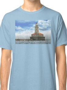 City - Chicago IL - Chicago harbor lighthouse Classic T-Shirt