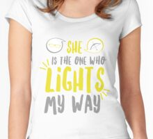 She lights my way Women's Fitted Scoop T-Shirt