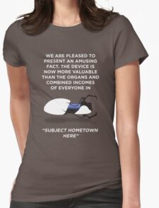 Portal Aperture Science Handheld Portal Device Womens Fitted T-Shirt