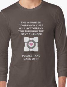 Portal Companion Cube Long Sleeve T-Shirt