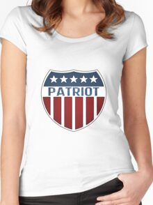Patriot Shield Women's Fitted Scoop T-Shirt