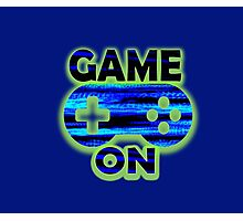 Game On Blue Gamer Photographic Print