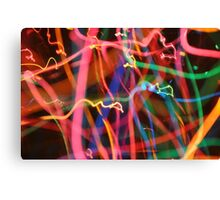 Psychedelic Glow Worm Canvas Print
