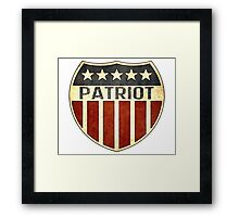 Patriot Shield Framed Print