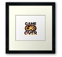 Game Over Flames Framed Print