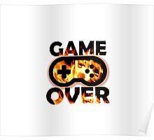 Game Over Flames Poster