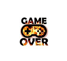Game Over Flames Photographic Print
