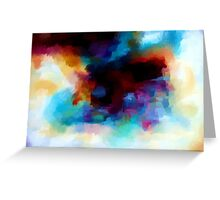 Abstract Nature Landscape Tropical Greeting Card