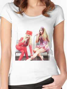 Katya and Alyssa Edwards Women's Fitted Scoop T-Shirt