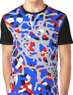Red White & Blue Abstract Pattern Graphic T-Shirt