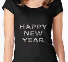 Happy New Year Chrome Women's Fitted Scoop T-Shirt