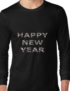 Happy New Year Chrome Long Sleeve T-Shirt