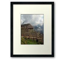 machu picchu photograph Framed Print