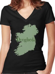 Drogheda Ireland with Map of Ireland Women's Fitted V-Neck T-Shirt