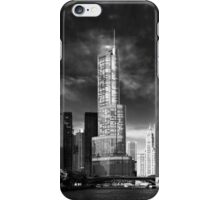 City - Chicago IL - Trump Tower BW iPhone Case/Skin
