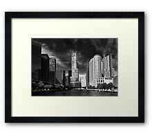 City - Chicago IL - Trump Tower BW Framed Print