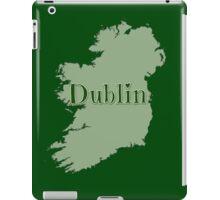 Dublin Ireland with Map of Ireland iPad Case/Skin