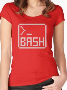 Bash Shell Pixel Drawing for Command Line Hackers Women's Fitted Scoop T-Shirt
