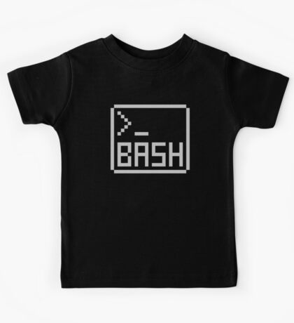 Bash Shell Pixel Drawing for Command Line Hackers Kids Tee