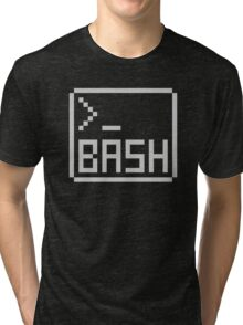 Bash Shell Pixel Drawing for Command Line Hackers Tri-blend T-Shirt