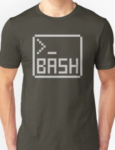 Bash Shell Pixel Drawing for Command Line Hackers Unisex T-Shirt