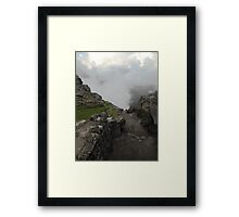 dirty path in the andes Framed Print