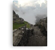 dirty path in the andes Canvas Print
