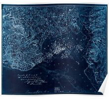 Civil War Maps 2104 Map of the fortifications within the District of Columbia Inverted Poster