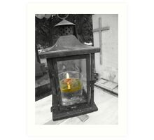 Light A Candle For Me Art Print
