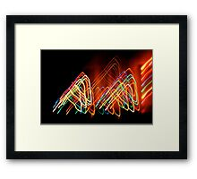 Suburb Christmas Light Series - 80s Funk Framed Print