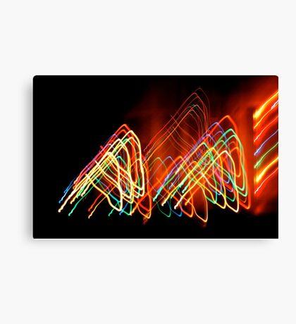 Suburb Christmas Light Series - 80s Funk Canvas Print