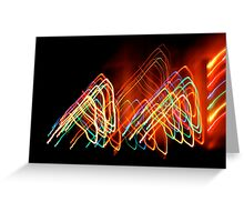 Suburb Christmas Light Series - 80s Funk Greeting Card