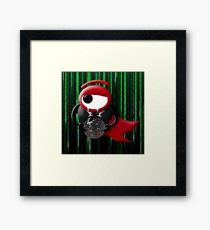 Dracula matrix Framed Print