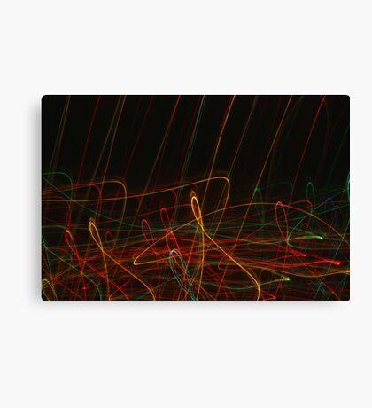 Suburb Christmas Light Series - Xmas Reach Canvas Print