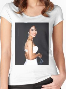 All White Women's Fitted Scoop T-Shirt