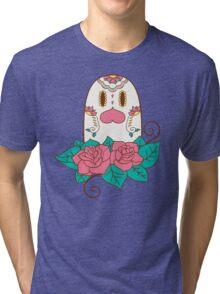 Diglett Pokemuerto   Pokemon & Day of The Dead Mashup Tri-blend T-Shirt