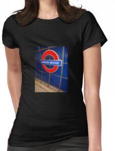 london bridge station Womens Fitted T-Shirt