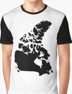 Map of Canada Graphic T-Shirt