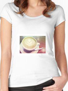 latte art Women's Fitted Scoop T-Shirt