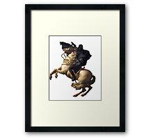 Darth vader riding a horse Framed Print