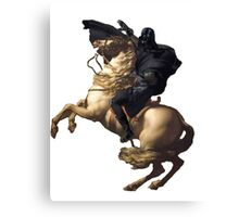 Darth vader riding a horse Canvas Print