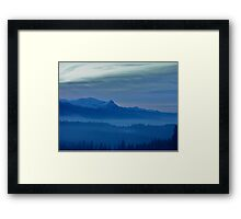 Views 5442 *** Winter landscape  - Tatra Mountains . Poland .  tribute to Gershwin plays Gershwin: Rhapsody in Blue . Made in Andrzej Goszcz .  thanks for viewing !. Framed Print